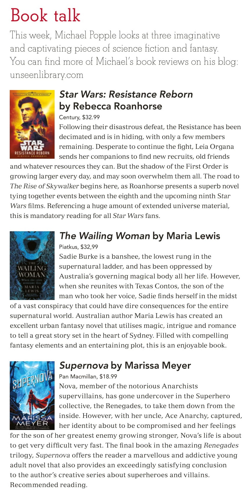Canberra Weekly Column - 14 November 2019 - Fantasy and Science Fiction-1.jpg