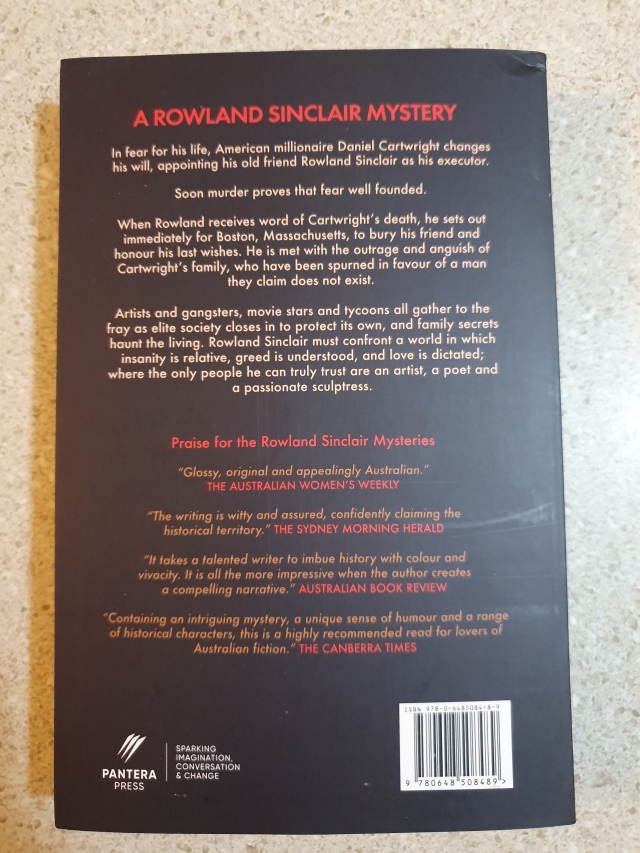 A Testament of Character Back Cover