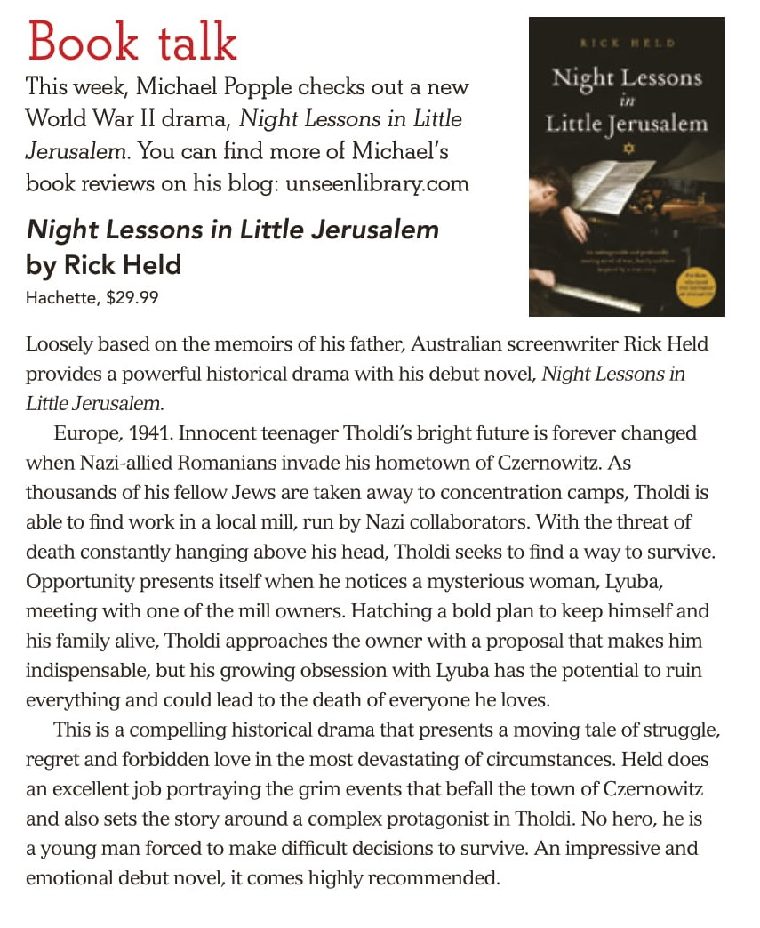 Canberra Weekly Column - Night Lessons in Little Jerusalem-1