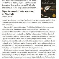 Canberra Weekly Review - Night Lessons in Little Jerusalem by Rick Held