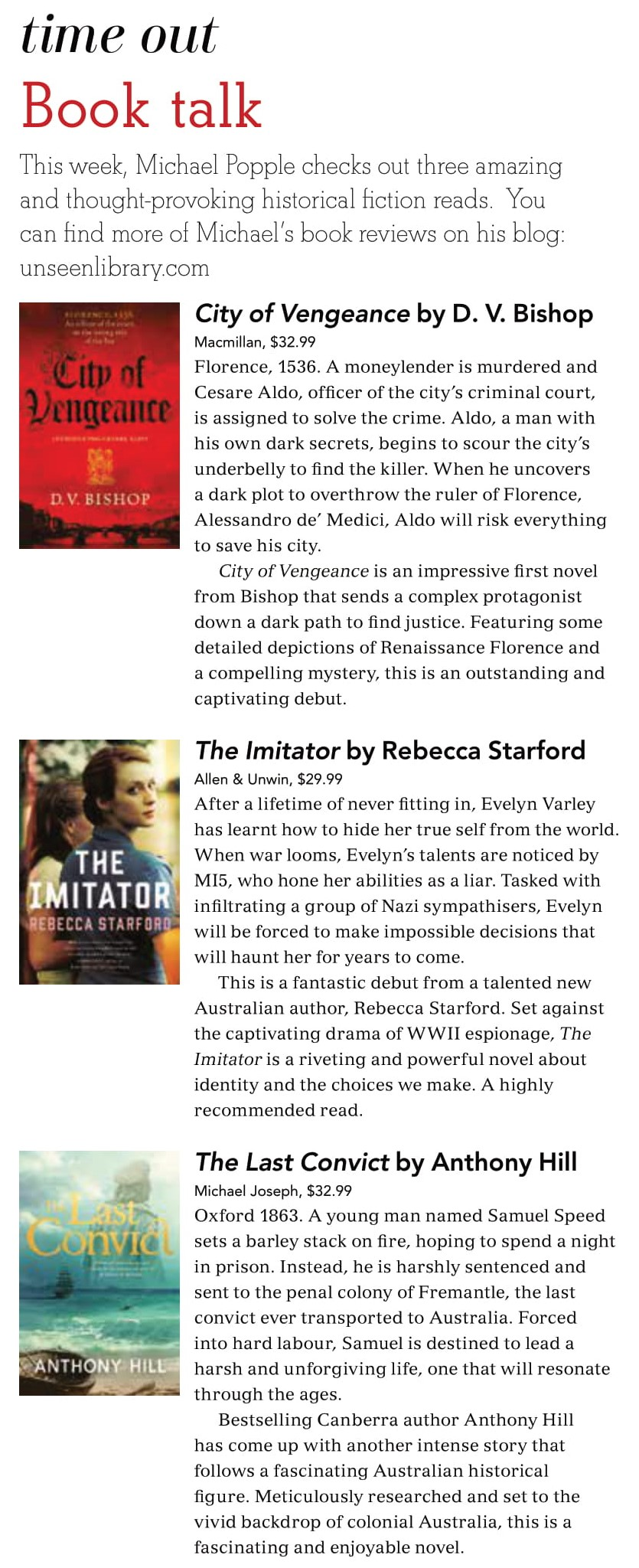Canberra Weekly Column - Historical Fiction - 18 February 2021 (cropped)