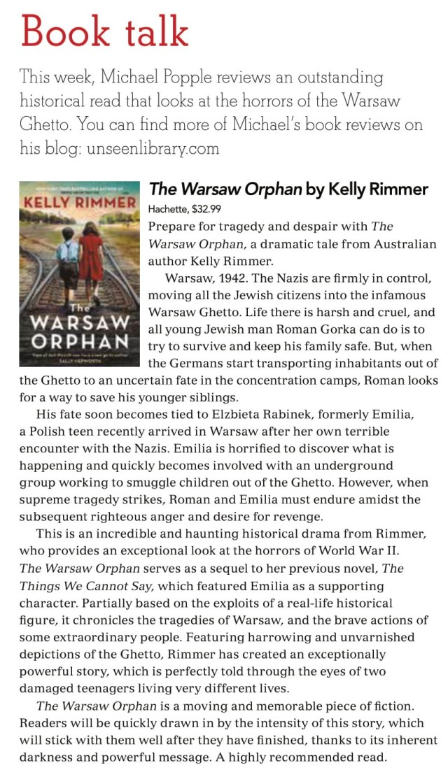 Canberra Weekly Column - The Warsaw Orphan - 13 May 2021-1