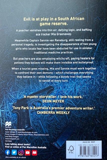 Tony Park Back Cover