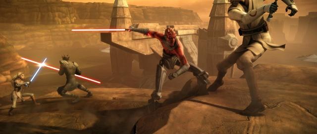 Kenobi and Adi Gallia vs Maul and Opress
